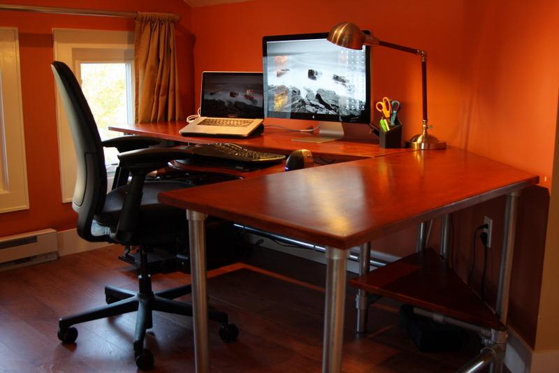 diy ergonomic computer desk revisited. Black Bedroom Furniture Sets. Home Design Ideas