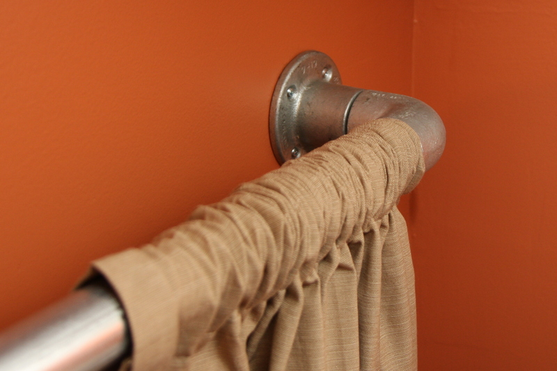 Steps for constructing this curtain rod: