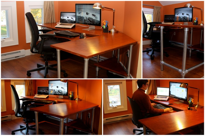 diy ergonomic computer desk revisited. Black Bedroom Furniture Sets. Home Design Ideas