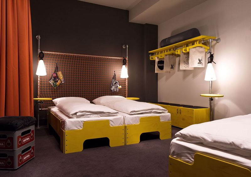 Industrial Pipe Furniture Featured In German Hostel