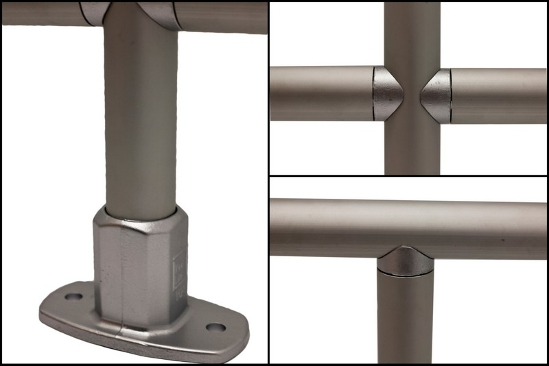 Kee lite smooth aluminum railing fall protection