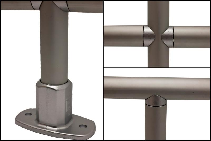 Aluminium Railing Systems : Kee lite smooth aluminum railing fall protection