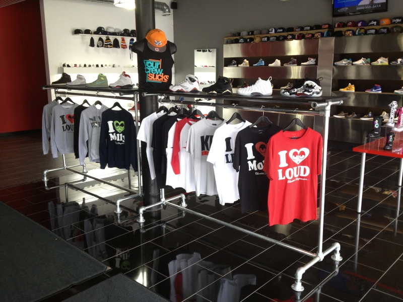 Rack clothing store