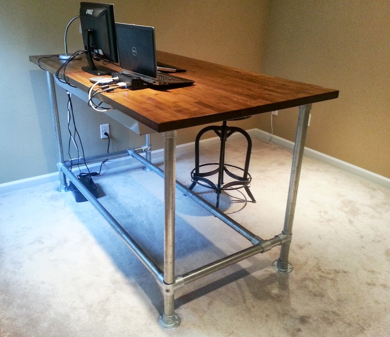 Back gt Gallery For Diy Standing Desk Pipe