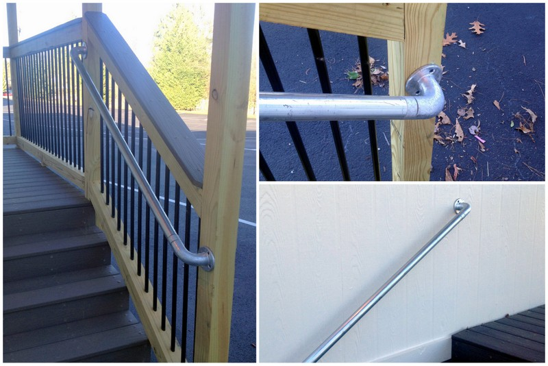 wall mounted handrail to attach to existing porch railing