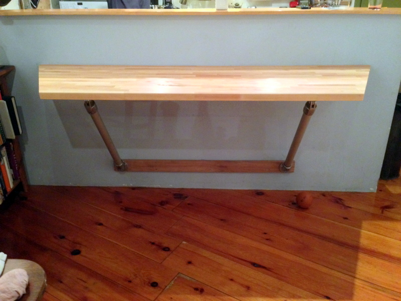Wall Mounted Butchers Block Table Projects Simplified