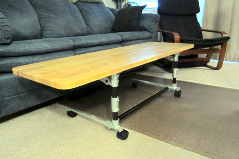 adjustable height desk coffee table position