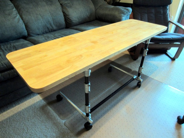 Sit-Stand Adjustable Height Desk - Sit Position