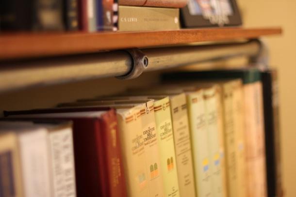 Close Up of Bookshelf
