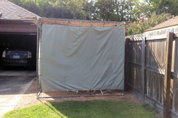 DIY Sukkah - Outside