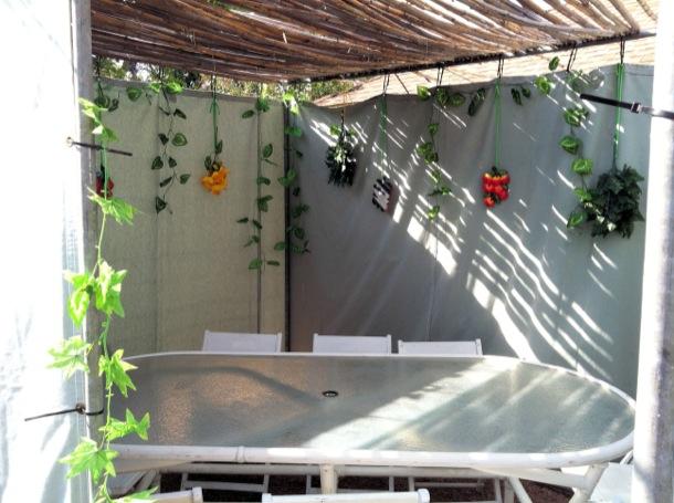 DIY Sukkah - Inside