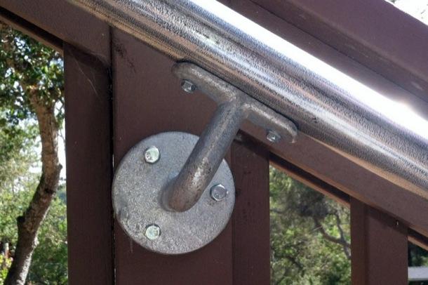 Outdoor Stair Handrail Installation