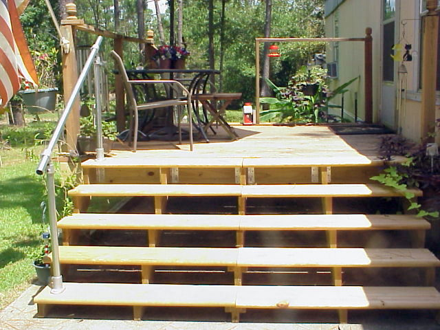 A Simple Handrail for Stairs on Porch or Deck | Simplified Building
