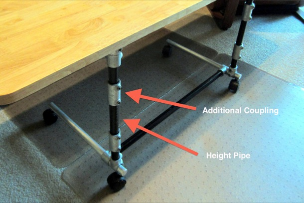 Adjustable Height Table - Coupling Diagram