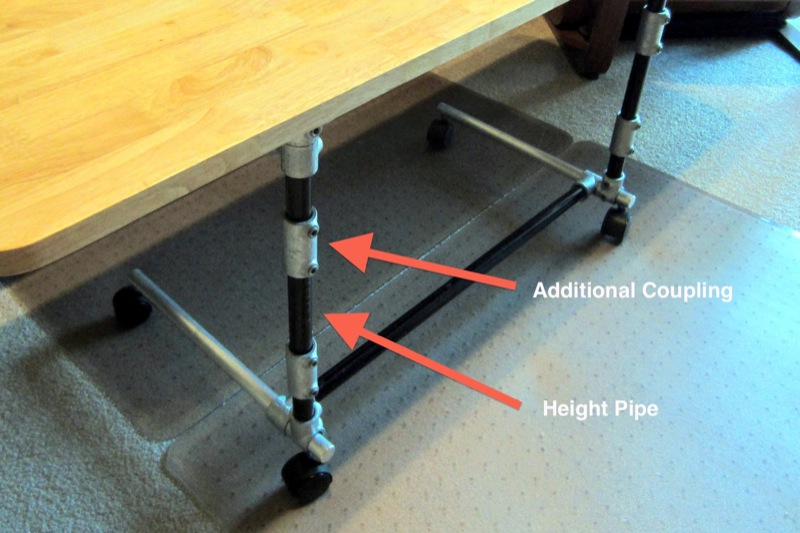 Sit Stand Adjustable Height Computer Desk