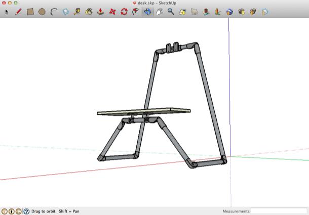 雪橇桌3D设计稿