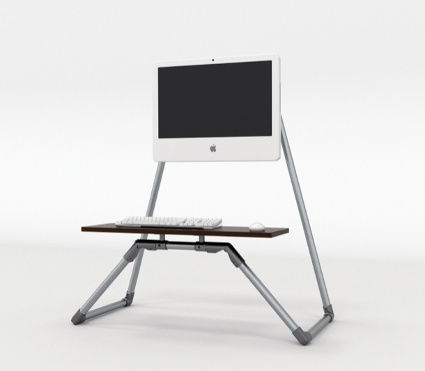 Desktop Stand Up Desk With Integrated Monitor Stand Simplified