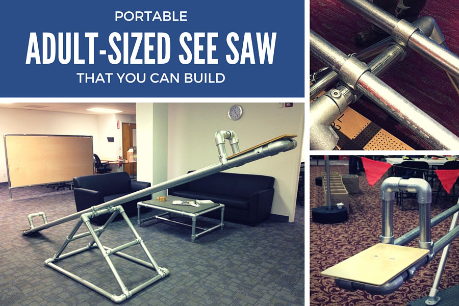 Portable, Adult*Sized See Saw that You Can Build