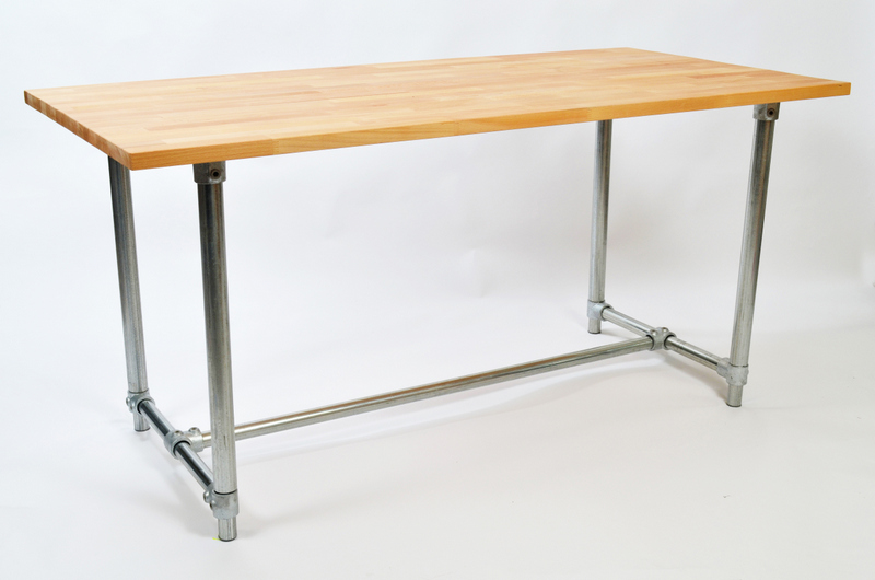 Adjustable Height Pipe Table
