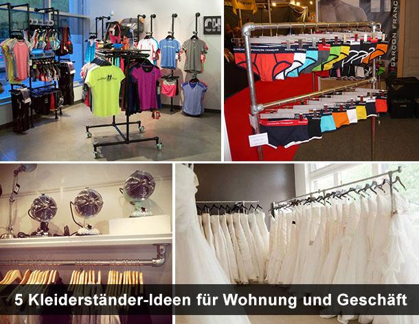 5 Kleiderständer-Ideen für Wohnung und Geschäft