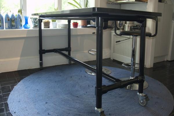 Selbstgebaute Kücheninsel