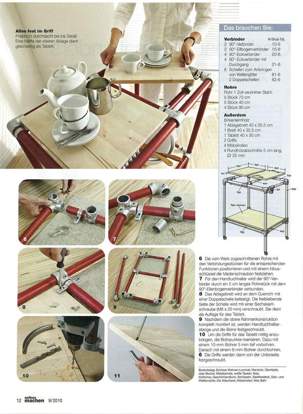 artikel im selber machen magazin servierwagen was werden sie bauen. Black Bedroom Furniture Sets. Home Design Ideas
