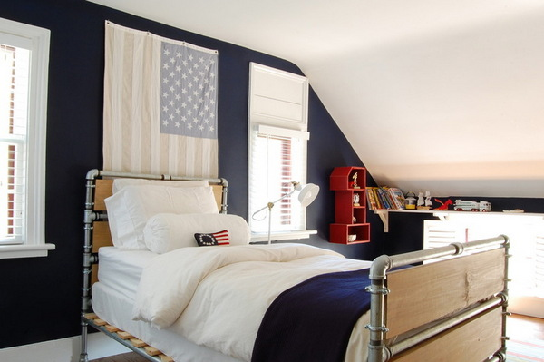 Betten aus Indudtrierohren