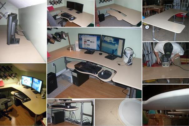 wie kann man einen ergonomischen schreibtisch selber bauen. Black Bedroom Furniture Sets. Home Design Ideas