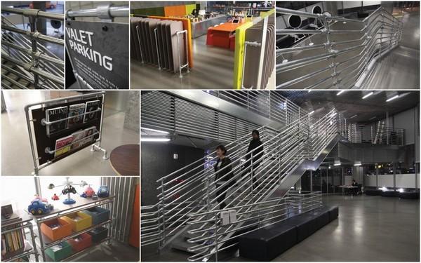 Industriële buizen als designelement in de binnenhuisarchitectuur