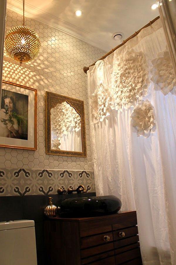 Antike duschstange gold lackiert was werden sie bauen - Antike badezimmer ...