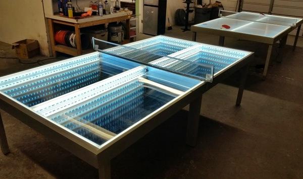 LED Tischplatte fuer Tischtennis