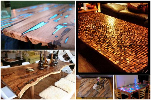 5 buitengewone tafelbladen voor industriële tafelonderstellen