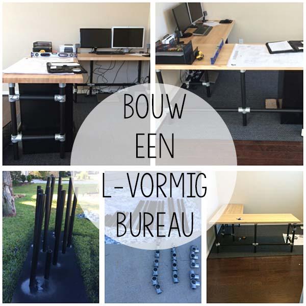 Eigen L-vormig Bureau maken