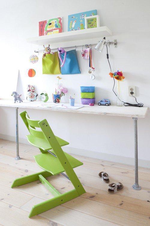 Bouw meubels met buizen en buiskoppelstukken blog - Kindertafel wand ...