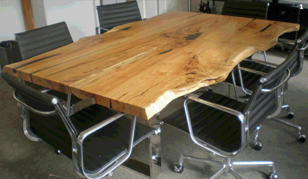5 buitengewone tafelbladen voor industri le for Table cuisine bois exotique