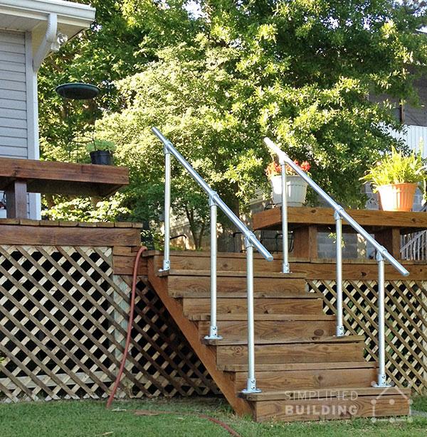 Geländer für Terrasse