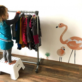 Build your own children's clothes rail