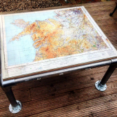 Easy DIY coffee table: Map design. How to build your own