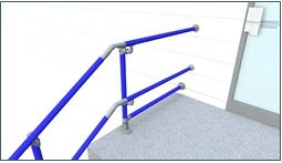 sch ma d 39 installation de rambardes selon la norme pmr pour les personnes mobilit r duite. Black Bedroom Furniture Sets. Home Design Ideas