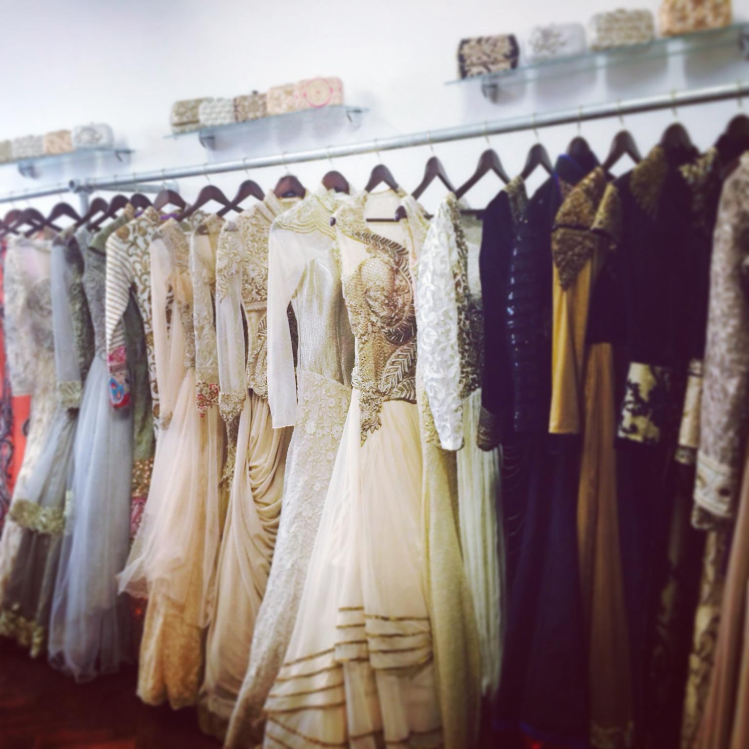 Bridal Shop Clothing Rail