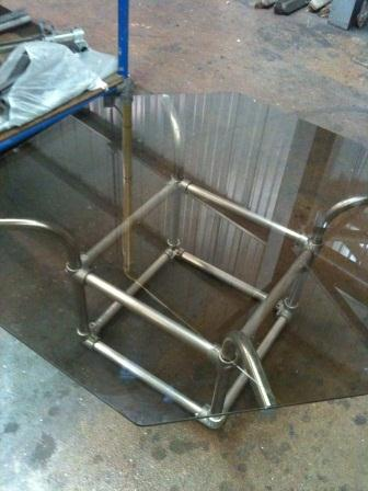 self build glass table