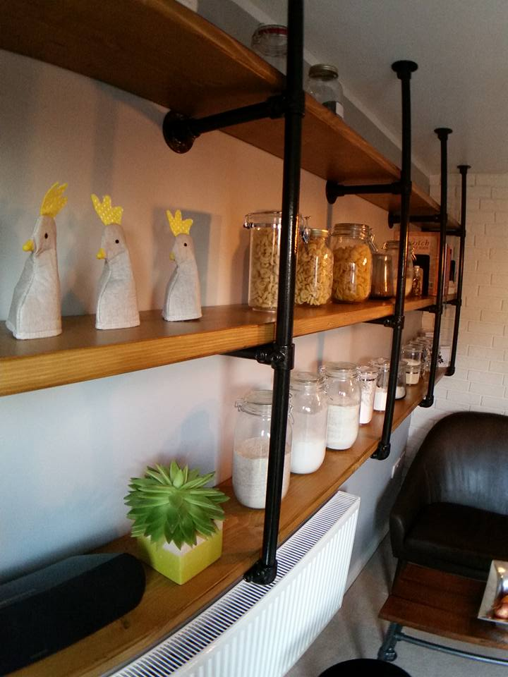 Kee Klamp and fittings industrial kitchen shelves