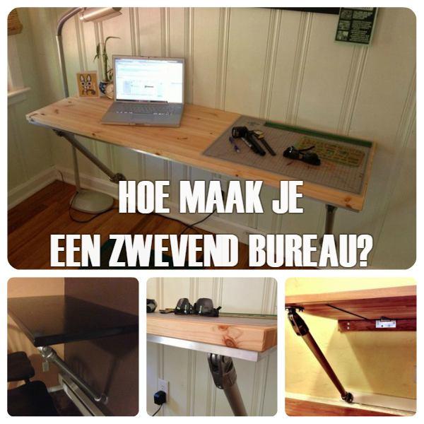 Zwevend bureau maken