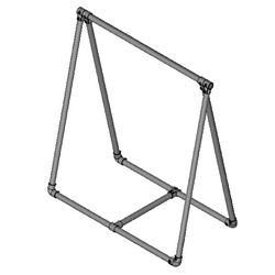 Free Standing Retail Clothing Rail - a-Frame