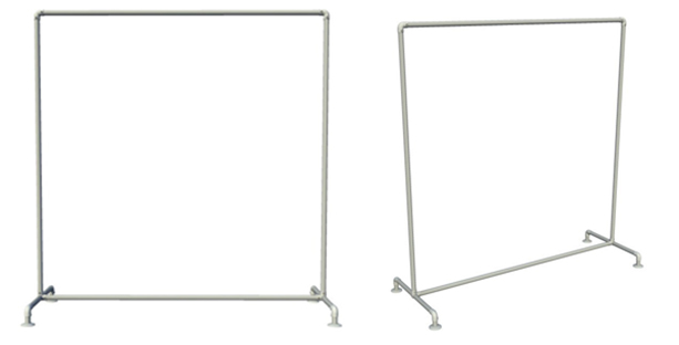 Clothing rail step by step instructions