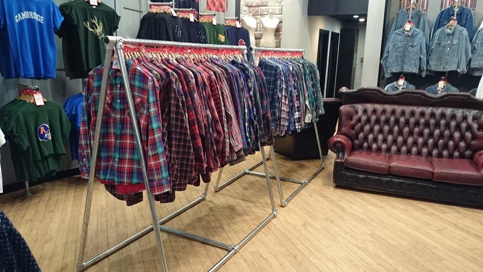 A frame clothing rail
