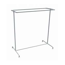 Free Standing Retail Clothing Rail - Double