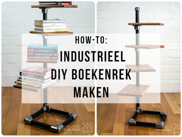 DIY Industrieel boekenrek