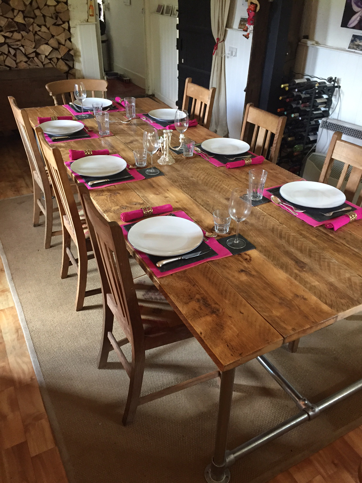 Kai's DIY Dining Table Ready For Guests