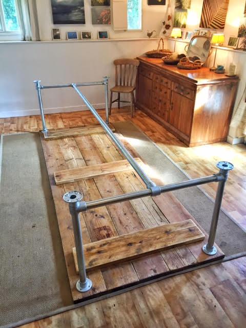 Kai's Table Built Using the Standard Table Frame Kit
